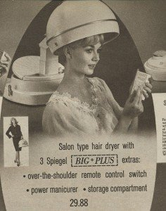 1966 Spiegel catalog salon hair dryer