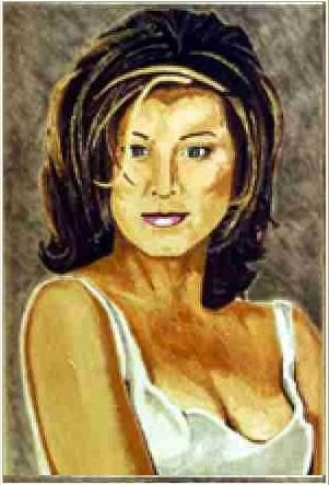 Oil Painting of Jennifer Aniston by  JonMickArtist