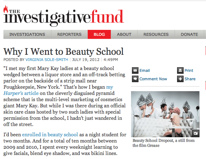 Investigative Fund: Why I Went to Beauty School by Virginia Sole-Smith