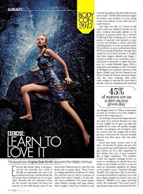 "Elle ""Exercise Learn To Love It,"" June 2013 by Virginia Sole-Smith"