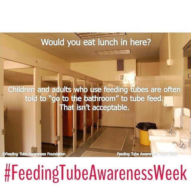 Would you eat lunch in here? #tubefeedsaremealtimestoo