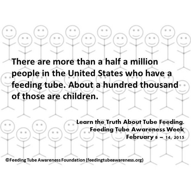 Feeding tubes by the numbers. #feedingtubeawarenessweek