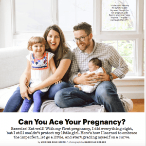 Why A Perfect Pregnancy is BS, Parents Magazine, Virginia Sole-Smith